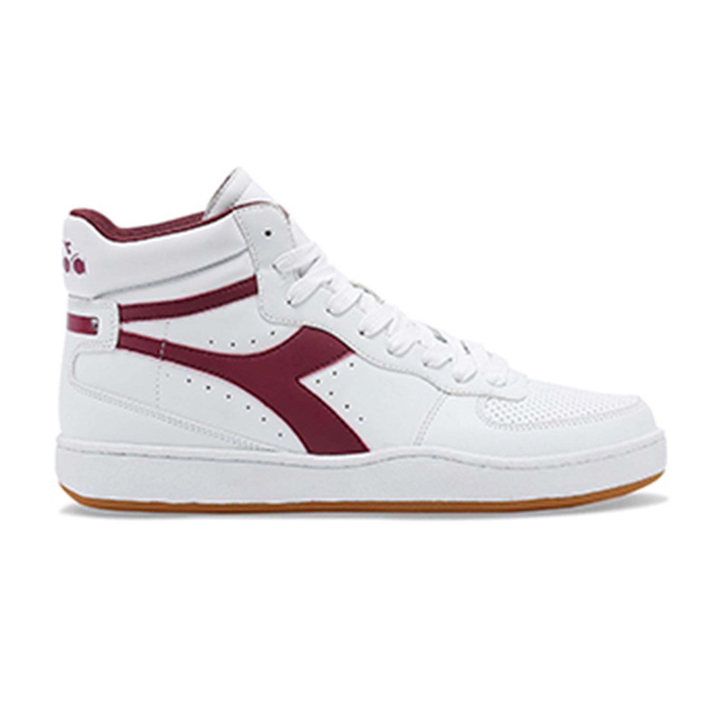 In Alta Bianca Sneaker Diadora E Uomo Pelle Tacks Rossa Scarpe wZ6BZEq5